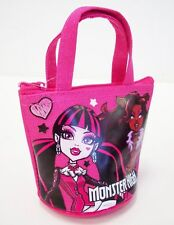 Monster High Hot  Pink Mini Coin Purse - Small Zippered Pouch NWT