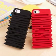 Weird and Fashion 3D Moschino Font Soft Silicone Case Cover Only For iPhone 5/5S