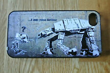Star Wars Banksy I Am Your Father At At Iphone 5 5s 4 4s  Hard Case/Cover