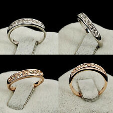 Fashion Design Diamond Rhinestone Lovers Rings Women Ring Trendy Cheap