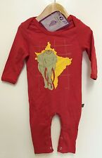 ANIMAL TAILS ORGANIC BABY ROMPERS & T-SHIRTS - ASIAN ELEPHANT PRINT