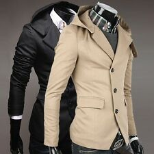 2 Colors CHEAP Mens' Silm Fit 3 Buttons Blazers Hooded Hoody Coat Suits Jackets