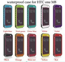 2015  NEW Waterproof Shock Dirt Proof Durable Case Cover For HTC ONE M8