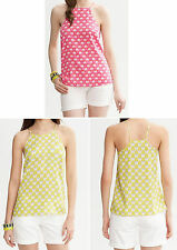 NWT Banana Republic $79.50 Milly Collection Silk Printed Halter Top PXS,PS,PM,PL