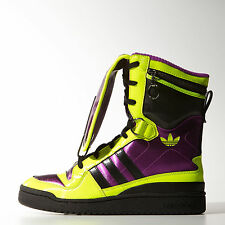 2014 ADIDAS OBYO Jeremy Scott JS Tall Boy Leather Trainers UK 4.5 to 12