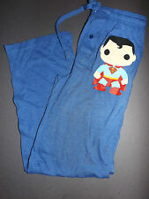 SUPERMAN POP! DC Comics Logo sweatpants sweat lounge pajama pants *NEW