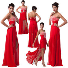 Women 2014 Beaded High Low Sexy Cocktail Bridesmaid Wedding Prom Pageant Dresses