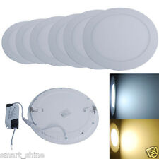 3W/6W/12W/18W LED Recessed Ceiling Flat Panel Light Downlight White Shell Round
