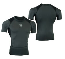 MS Mens Compression Armour Base Layer Top Half Sleeve Thermal Gym Sports Shirt
