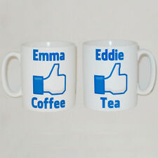 Facebook Parody Like Tea / Coffee Mug Can Be Personalised Any Message Great Gift