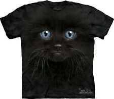 Black kitten Face Kids T-Shirt from The Mountain. Cats Boy Girl Child Sizes NEW