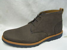 Mens Clarks Fulham Hi Dark Brown Nubuck Ankle Boots G Fitting
