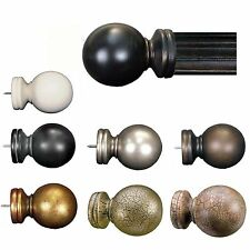 "Menagerie 2"" Drapery Hardware Pair Of Classic Ball Finials 8 Finishes"