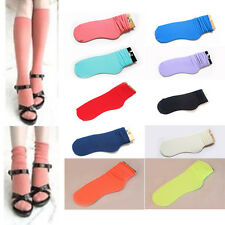 Summer Candy Color Cotton Fluorescent Women's Casual Curling Cotton Socks