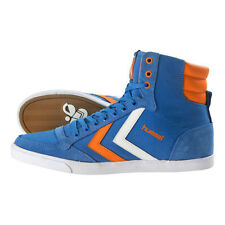 HUMMEL TRAINERS SLIMMER STADIL HIGH CANVAS HI TOPS UK 7 BRILLIANT BLUE