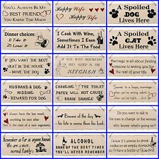 Funny Wall Plaques Mum Dad Dog Food Kitchen Wife House Home Wall Plaques FREEp&p
