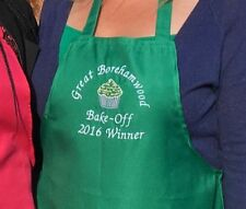 New Personalised Lightweight Apron Embroidered with Name or Slogan