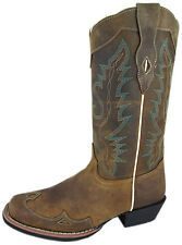 "Women's Smoky Mountain Augusta 13"" Western Boots Square Toe Brown Medium 6344"