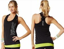 ZUMBA FITNESS DANCE~Bubble Halter~Top Tee Shirt Tank~CUT iT Up for Edgy Look S M