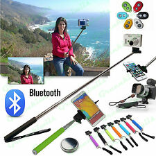 Bluetooth Shutter Selfie Extendable Handheld Stick Monopod For iPhone Galaxy LG