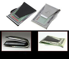 Credit Card ID Holder Slim Stainless Steel Double Sided Money Cash Clip Wallet