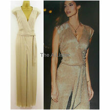Glamorous Gold Shimmer Catsuit Jumpsuit, Size 12 14 New £95 Party Evening Formal