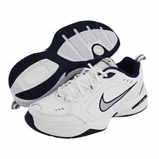 NEW Nike AIR MONARCH IV Mens White Blue Comfort Lace Up Running Training Shoes