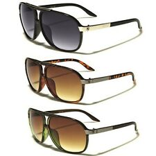 Mens Womens Retro Vintage 80s Classic Fashion Designer Aviator Sunglasses Black
