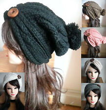 US SHIP Women knit Baggy Beanie Oversize Winter Hat Ski Slouchy Chic Cap Skull