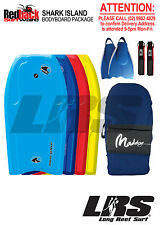 "Body Board Package RedBack 41"" Bodyboard, Cover, Bodyboarding Fins + Leash"