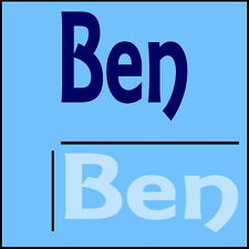 Ben Wall Sticker Boys Name -12x28cm Bike Helmet Art Vinyl Decal Decor Car Sign