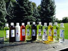 8 OZ (236 ML)PURE ALL ORGANIC CARRIER OILS 2 BOTTLES OF DIFFERENT OILS EACH 4 OZ