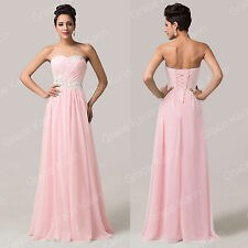 Sweetheart Applique Chiffon Bridesmaid Formal Ball Gown Evening Prom Party Dress