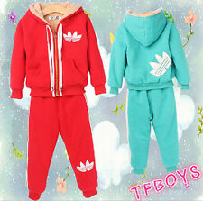 Casual Hooded fall and winter clothes for boys and girls sportswear suit
