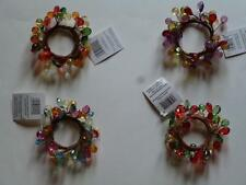 Napkin Ring Sping Easter Christmas Fall Thanksgiving Fauceted Beads 4 Styles NEW