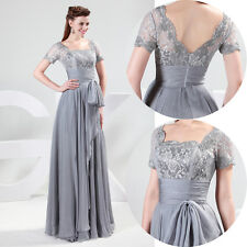 Light-Weight Soft Evening Formal Bridesmaid Wedding Ball Gown Prom Party Dresses