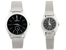 Couple Lover Stainless Steel Mens Womens Quartz Wrist Watch Watche