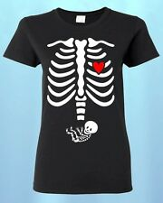 Pregnant X-ray Baby BOY Skull * Women T-SHIRT * Halloween Shirts Funny Shirts