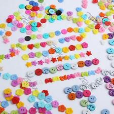 Wholesales 100pcs Buttons Lots Color Sewing Craft Decor Clothing Accessories D94