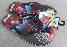 NWT Youth Amazing Spiderman Flip Flops Foam Rubber Sole Different Sizes