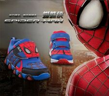 NEW Boy's Toddler's SPIDER-MAN Athletic Casual Velcro Sneakers Shoes