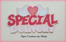Craftecafe Mindy Baby girl boy title premade paper piecing for scrapbook page