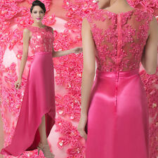 Women Sexy Applique Sexy High-Low Ball Gown Homecoming Evening Prom Party Dress