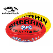 Sherrin Official AFL Replica Game Football - Leather, PVC and PVC Mini