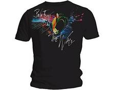 OFFICIAL LICENSED - PINK FLOYD - RUN SPLATTER T SHIRT - ROCK THE WALL GILMORE