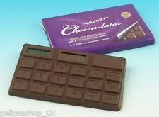 YUMMY CHUNKY CHOC-U-LATOR CHOCOLATE REAL CALCULATOR BAR CALORIE FREE NOVELTY NEW
