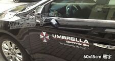 1 pair zombie outbreak resident evil umbrella corporation car stickers decal new