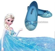 New Arrive Frozen Blue Elsa Princess Cosplay Shoes Girls Kids Shoes UK7-13 123