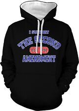 I Support The Second 2nd Amendment Est 1791 Pro-gun Carry 2-tone Hoodie Pullover