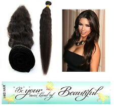 100% Virgin Peruvian Natural Wave Human Hair Weave Extension Bundle 100g Black